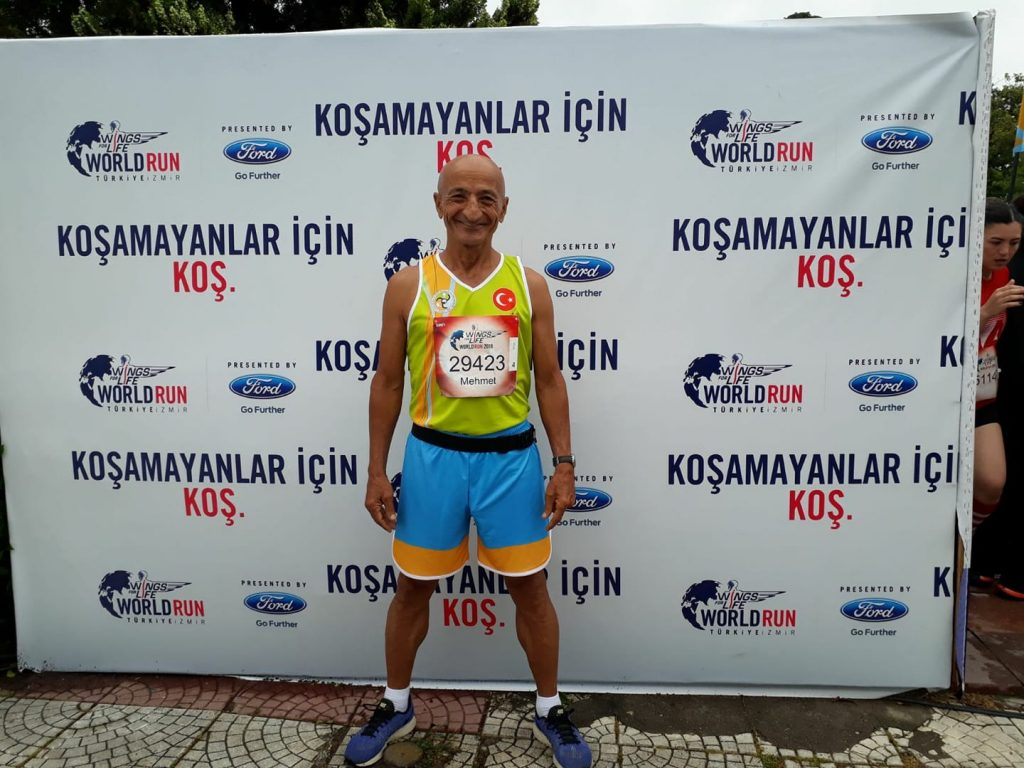 "Our sportsman Mehmet KAYA won the first place in the ""Wings for Life"" race"
